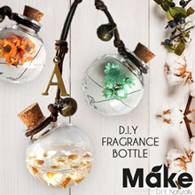 DIY Car Perfume Fragrance Bottle Hanging Glass Pendant with Real Flowers! Great as gifts!