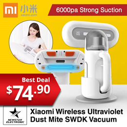 Xiaomi SWDK Wireless Handheld Ultraviolet Dust Mite Cleaner 6000Pa With Power Charge