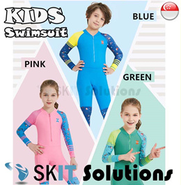 KIDS Swimsuit ★ LS-18822 Long Sleeve Swimming Costume Wear Suit★ Swim Clothes Boy and Girl