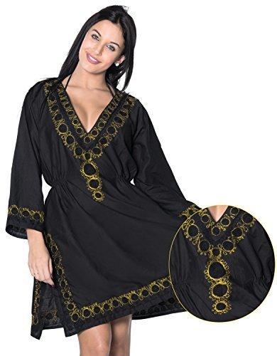 f05fc84871d5d Qoo10 - La Leela Beach Cover ups Dresses Swimsuit Blouse Caftan Bikini  Bathing Resortwear Gifts Kaftan Tops Tunic Soft Fabric Printed Plus Size  Kimono Robe ...