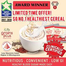 [Crazy deal $22 For First 25 Order Only][30sachets=0.96kg] SG NO.1 CEREAL-  iLite GrainsPlus