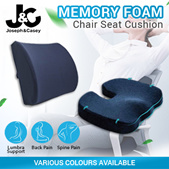 Memory Foam Chair Cushion / 3D Seat Cushion / Back Support  Relieves Tension / Chair Cushion Set