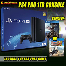 ★SONY PS4 1 TB Pro Console w 1 x Controllers w 2 x PS4 Game★ at $599! 4K Quality Resolution w Remarkable Clarity. Local Sony 15 Months Warranty