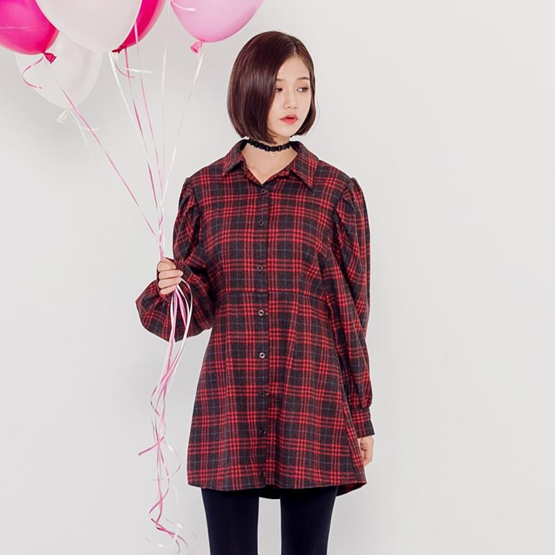 【送料無料】★韓國ファッション★carol check puff OPS♥カロリーチェック用パフOPS