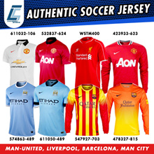 NIKE MANCHESTER UNITED LIVERPOOL FCB BARCELONA MAN CITY HOME/AWAY SOCCER JERSEY ALL ON OFFER!!