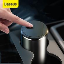 Baseus Alloy Car Trash Can Auto Organizer Storage Bag Car Garbage Bin Ashtray Dust Case Holder Auto