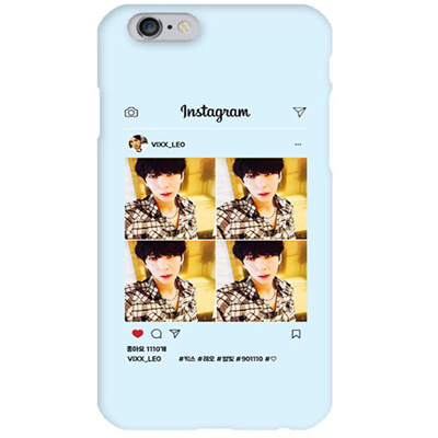 VIXX Instagram Leo 1 Blue Hard Matte Phone Case Apple iphone X XS XR 8765  Samsung Galaxy S9