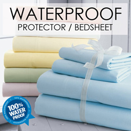 [Cart Coupon Friendly] SOL HOME ® Waterproof bedsheet / Waterproof mattress protector.