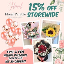 (FREE HELIUM BALLOONS*) V-Day Special 15% OFF - Fresh Roses Bouquet / Preserved Flowers Bouquet