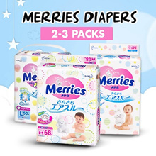 [USE QOO10 COUPON FROM $16.66 PER PACK] MIX AND MATCH MERRIES TWIN GIANT PACK MADE IN JAPAN DIAPER