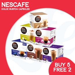 [NESCAFE] Buy 5 Boxes of Nescafe Dolce Gusto Capsules Free 2