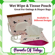 Reusable Wet Wipes Pouch Dispenser for Baby - Wet Tissue Holder -Great 4 Outings - Light Weight