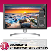 LG Monitor [27UK850-W] HDR 10 USB Type-C UHD 4k IPSsRGB 99% Freesync 27 Inch 3 Years Warranty