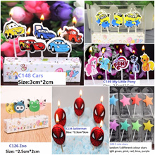 Latest candlesready stock! Cartoon candles/ number candles/ birthday party/ Over 150 designs