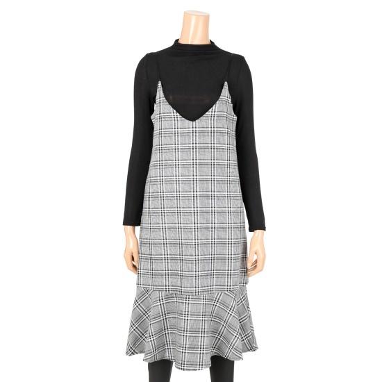 [タグ]重ね着ティーワンピースセットS174W908 面ワンピース/ 韓国ファッション