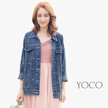 YOCO - Pearl Embellished Denim Jacket-180088