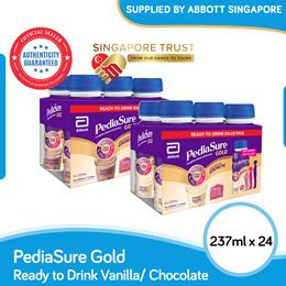 [CARTON SALE] Abbott PediaSure Ready-to-Drink Vanilla/Chocolate 237ml x 24