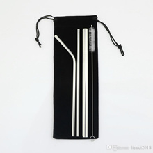 304 Stainless Steel Straws  4Pcs Reusable Drinking Straws Comes with Storage Bag
