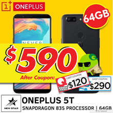 NEW! One Plus 5T |  [ Oxygen OS with Playstore ]  Local seller with Free 6 months store warranty