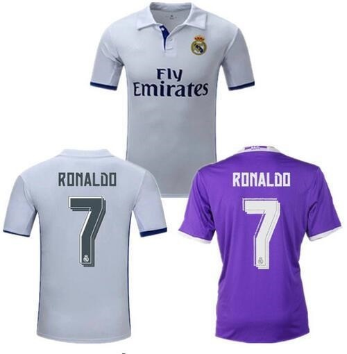 pretty nice 2b725 30653 New Soccer Jersey 16 17 RONALDO home away JAMES BALE BENZEMA MODRIC thai  quality football shirt socc
