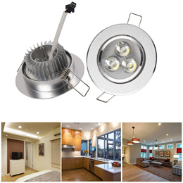 5pcs/10pcs 3x3W Round LED Recessed Ceiling Panel Down Lights Lamp for Home Meeting Room Shopping Mal