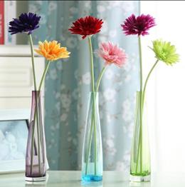 Modern minimalist fashion crystal glass vases home decorations ornaments Gerbera simulation flower t