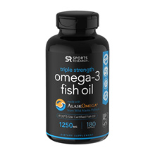 Sports Research Omega 3 Fish Oil 1250mg 180 tablets