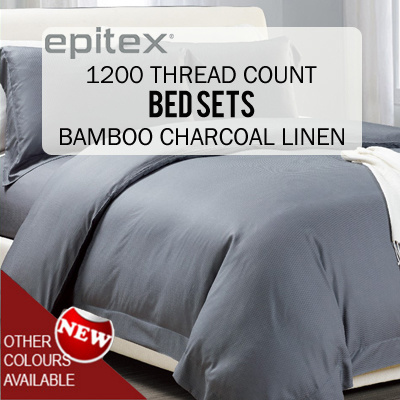 [Epitex]☆Silkysoft Bedsheets☆Bamboo Charcoal Linen☆Printed Bedsheets☆High  Quality
