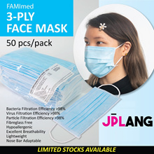 3-PLY EAR LOOP SURGICAL MASK 50PCS/PACK. ★ IN STOCK!!★