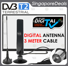 DIGITAL ANTENNA FOR DVB - T2 DVB-T2 DIGITAL READY HD TV WITH 3 METER CABLE