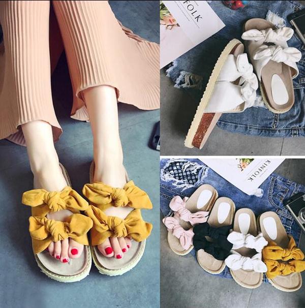 Pantai sandal sandal datar feminin elegan mudah untuk berjalan pita Deals for only Rp298.500 instead of Rp298.500