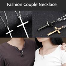 💗 Couple Matching Set Titanium Stainless Steel Couple Pendant Necklace Korean Love Style