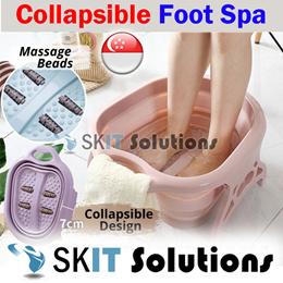 Foldable Foot Spa Bath Soak Massager Reflexology Massage Bucket Basin Tub Collapsible Leg Detox