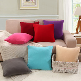 SG Stock★Spandex Sofa Cushion Pillow Cover /Pillowcases/ Solid Color Pillowcase/Cushion Covers