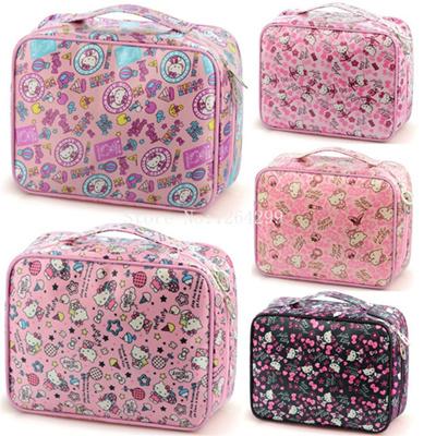 5639cdf072 fashion hello kitty girls woman big waterproof oxd cosmetic bags cases kids  handbags children