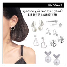 OMODAYS Korean Design 925 Sliver Earrings ★ Allergy Free Bracelet Necklace Accessories New Year