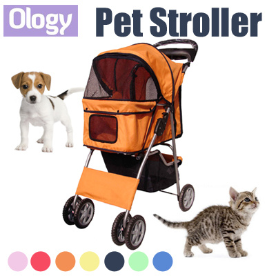 coupon friendlyPet Stroller Foldable Washable Baby Pram Cat Carrier Dog  Cart Pet Wheel Tree Trolley Condo Backpack