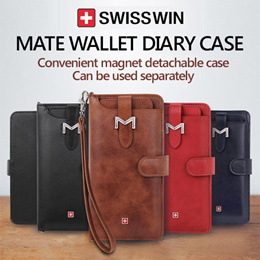 [Q-commerce] ★Swisswin Mate Wallet Diary Case/ Galaxy Note 8/S8/S7/Edge/J7 Prime/ iPhone X/8/7 Case
