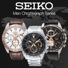 [CreationWatches] New Seiko Chronograph Mens Watch Series - 100% Authentic