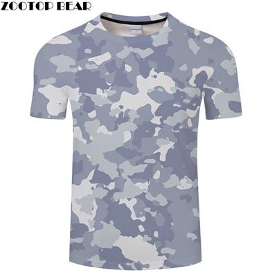 4b53ead58cb2 Lichtblauw Camo 3D Print T shirts Mannen Vrouwen tshirts Zomer Casual Korte  Mouw Tops & Tees