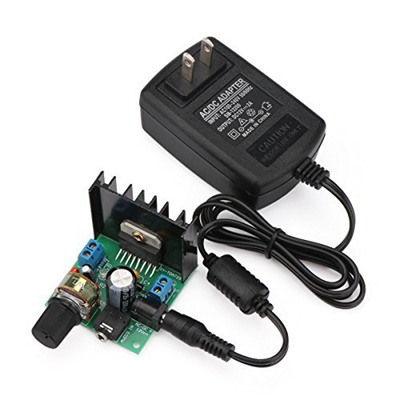 Mini Audio Amplifier Board, DROK Micro Stereo Amplifier Circuit Dual  Channel 15W+15W TDA7297 Digi