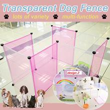 Free combination of Transparent fence pet dog fence pet dog house nest Variety Multifunction pet fen