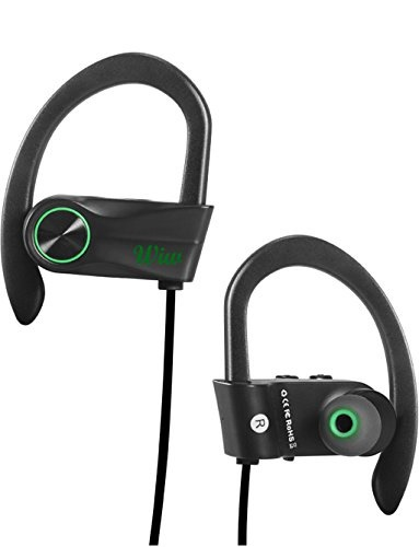 7181100f6d7 Wiw Wireless Headphones HD Stereo Workout Earphones Bluetooth Earbuds with  Built-in Mic green