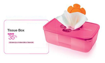 Tupperware^^ Tissue Box for only SGD15.25 Pink Colour 1 Piece Only
