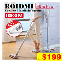 【Official Store】Xiaomi Roidmi  F8  F8e Cordless Handheld Vacuum |  ✔Strong Suction Power
