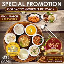 $5 [Apply 20% OFF] 1+1 Healthy Cordyceps Gourmet Delicacy [Ready-to-Eat Meal] ★ Choose fm 9 Flavour