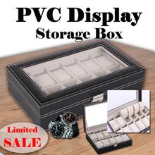 [ MEGA SALE ] 5/6/10/12 Slots PVC Black Watch Storage Box