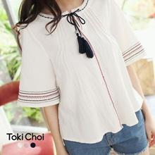 TOKICHOI - Bohemian Style Top-6024290