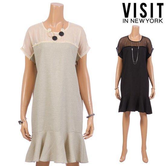 ・ビジット・インニューヨークブティックシースワンピースVTFOP02 面ワンピース/ 韓国ファッション