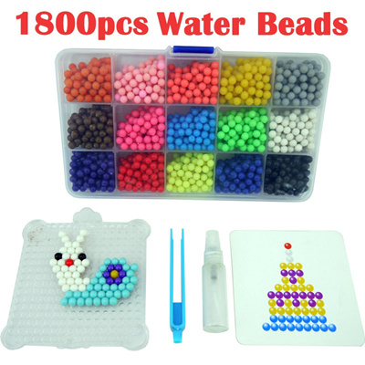 Multicolor Water Hama Beads toys Sticky Perler Beads Pegboard set Fuse  Beads jigsaw puzzle Water Bea